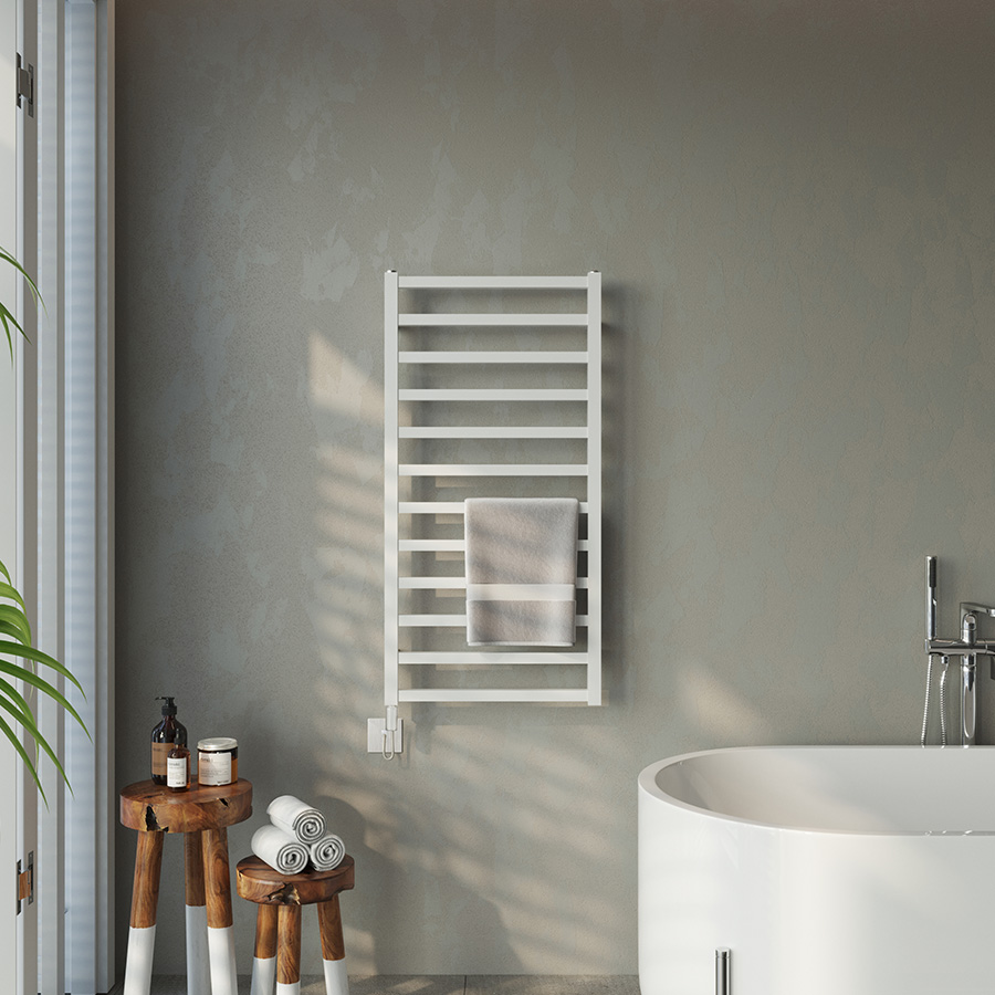White Electric only radiator