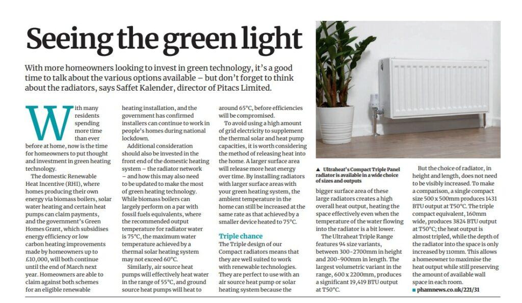 Ultraheat Article In PHAM News Magazine February 2021