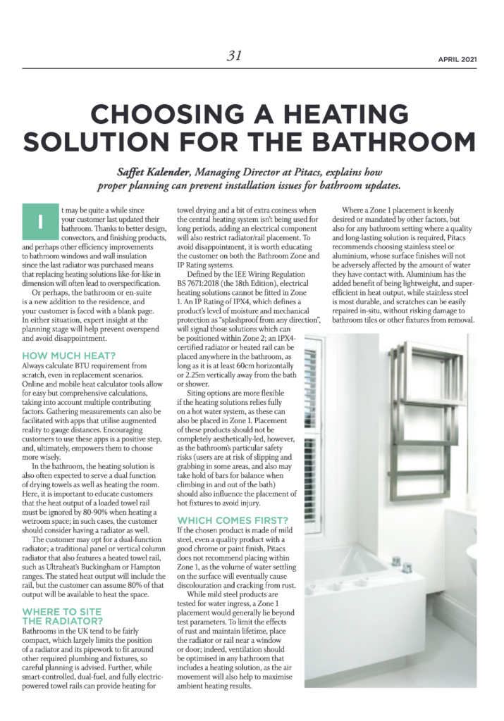 Choosing a heating solution | HVP Magazine April 2021