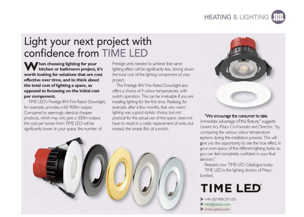TIME LED Prestige Pro Downlight Feature BKU Magazine May 2021