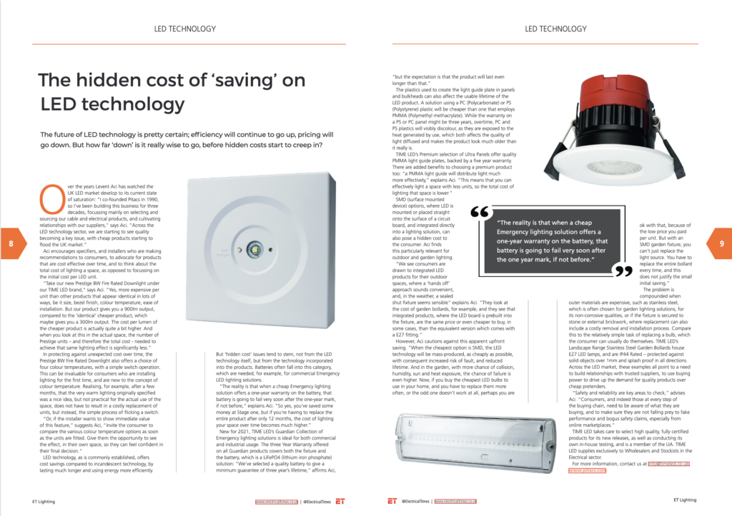 Electrical Times Magazine - TIME LED May 2021